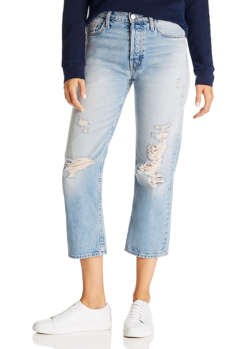 Mother Denim MOTHER The Huffy Flood High-Rise Straight-Leg Jeans in Mercy