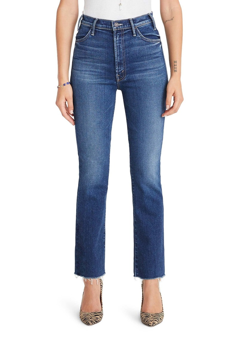Mother Denim MOTHER The Hustler High Waist Ankle Flare Jeans (Night Club)