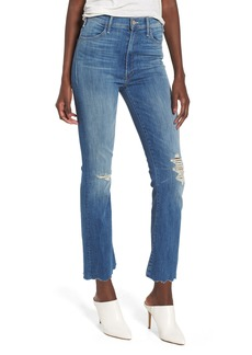Mother Denim MOTHER The Hustler High Waist Chew Hem Ankle Jeans (Mums the Word)