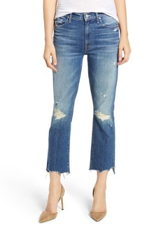 Mother Denim MOTHER The Insider Chewed Crop Step Hem Jeans (Better When It's Wrong)