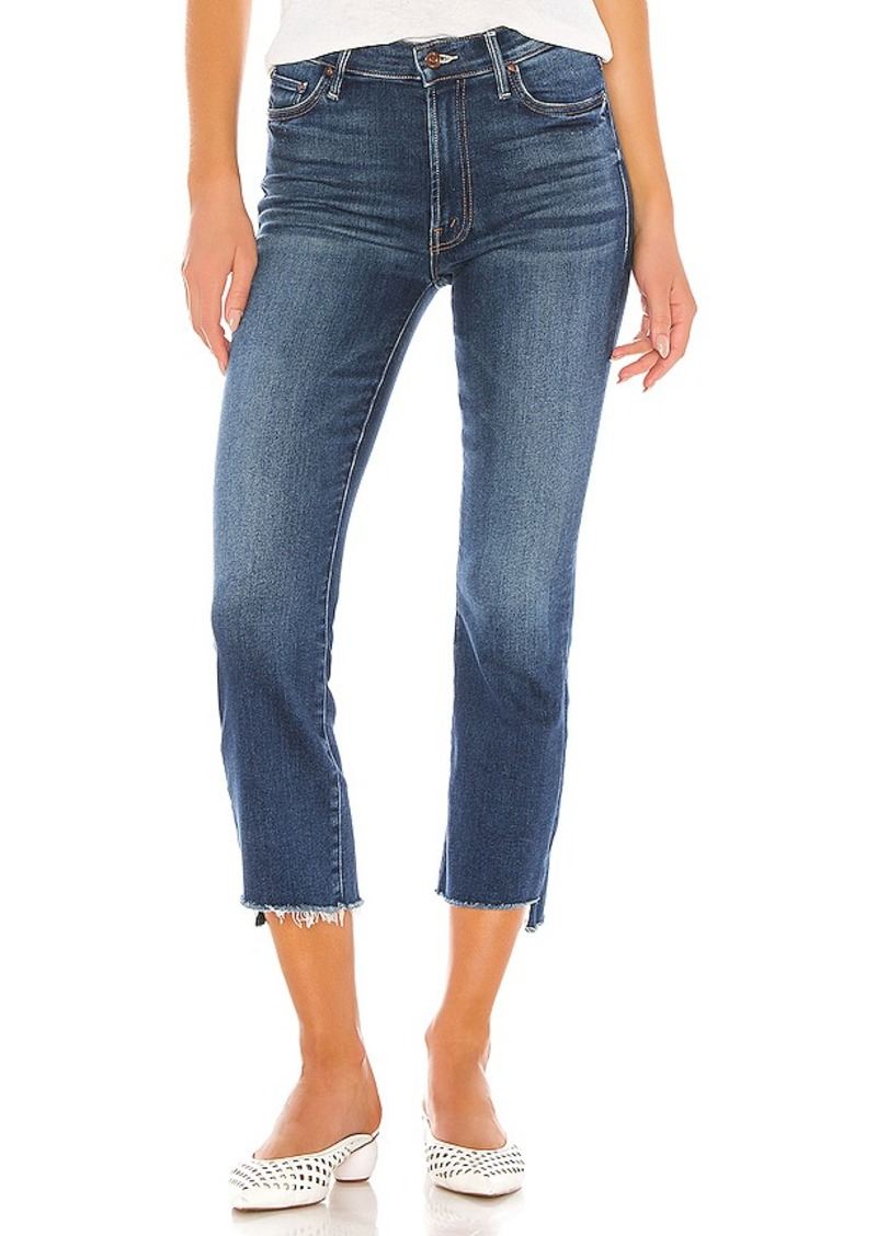 Mother Denim MOTHER The Insider Crop Step Fray