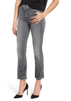 Mother Denim MOTHER The Insider Frayed Ankle Jeans (Fan the Flames)