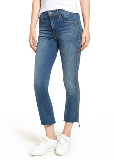 Mother Denim MOTHER The Insider Frayed Step Hem Crop Jeans (Rough Stud)