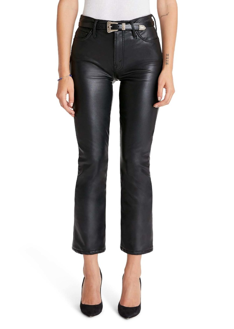 Mother Denim MOTHER The Insider High Waist Crop Bootcut Faux Leather Pants