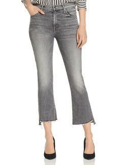 Mother Denim MOTHER The Insider Step-Hem Cropped Flared Jeans in Tag, You're It!