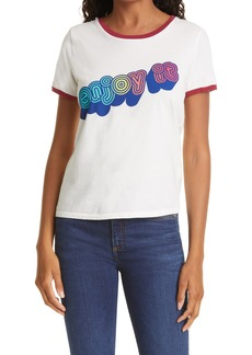 Mother Denim MOTHER The Itty Bitty Goodie Cotton Ringer Tee