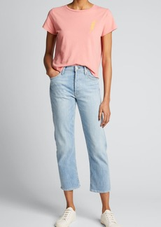Mother Denim MOTHER The Lil' Goodie Goodie Cropped Tee
