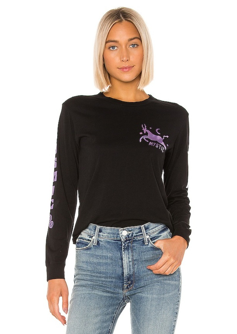 Mother Denim MOTHER The Long Sleeve Crop Goodie Goodie Fray Tee