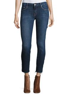 Mother Denim MOTHER The Looker Ankle Fray Girl-Crush Denim Jeans  Blue