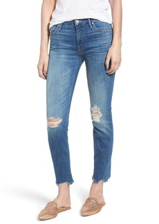 Mother Denim MOTHER The Looker Chew Hem Ankle Skinny Jeans (Mums the Word)
