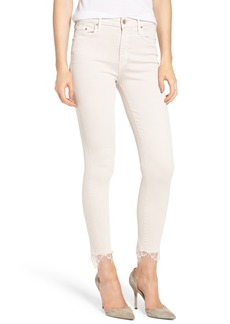 Mother Denim MOTHER The Looker Dagger High Waist Ankle Skinny Jeans (Blush)