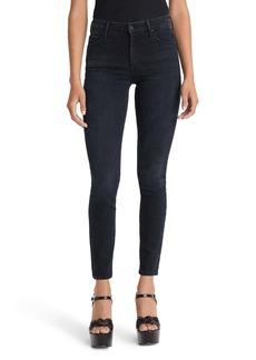 Mother Denim MOTHER The Looker Embroidered High Waist Skinny Jeans (Blackbird)