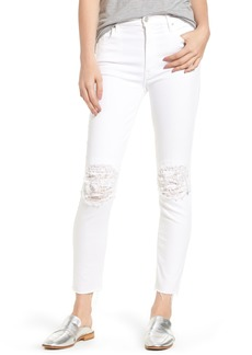 Mother Denim MOTHER The Looker Frayed Ankle Skinny Jeans