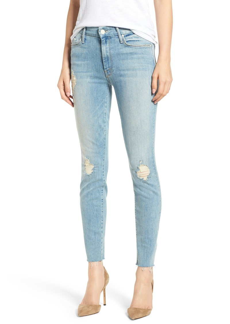 f6e771a5eefe Mother Denim MOTHER The Looker Frayed Ankle Skinny Jeans (Thunderstruck  Racer)