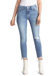 Mother Denim MOTHER The Looker Frayed Ankle Skinny Jeans (Exposed Secret Sister)