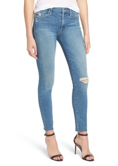 Mother Denim MOTHER The Looker Frayed Ankle Skinny Jeans (Love Gun)