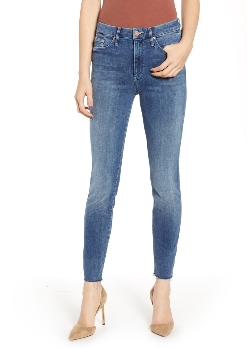 46de8a3296d2 Mother Denim MOTHER The Looker Frayed High Waist Ankle Skinny Jeans  (Everything We Keep)
