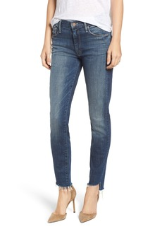 Mother Denim MOTHER The Looker Frayed Step Hem Ankle Jeans (Can't Leave It Alone)