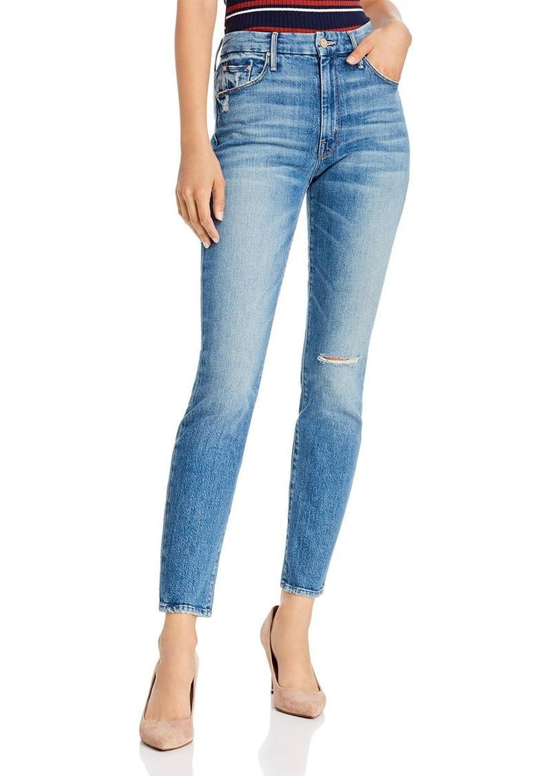 Mother Denim MOTHER The Looker High-Rise Ankle Skinny Jeans in Popism