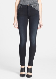 Mother Denim MOTHER 'The Looker' High Rise Skinny Jeans (Coffee Tea Or Me)