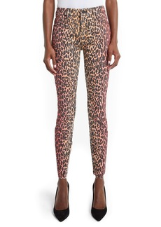 Mother Denim MOTHER The Looker High Waist Fray Ankle Skinny Jeans (Pink Horizon)