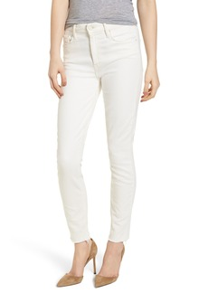 Mother Denim MOTHER The Looker High Waist Fray Ankle Skinny Jeans (Whipping the Cream)