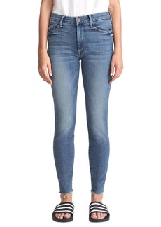 Mother Denim MOTHER The Looker High Waist Frayed Ankle Skinny Jeans (Big Sky)
