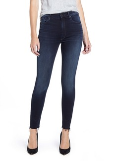 Mother Denim MOTHER The Looker High Waist Frayed Ankle Skinny Jeans (Last Call)