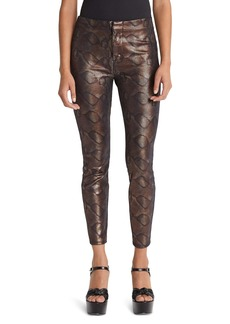 Mother Denim MOTHER The Looker Snake Texture High Waist Skinny Pants (Slither)