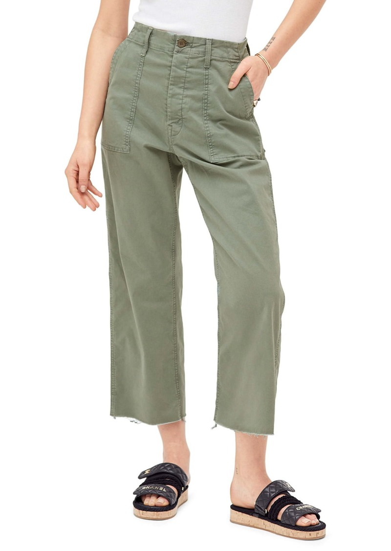 Mother Denim MOTHER The Patch Pocket Frayed Ankle Military Pants