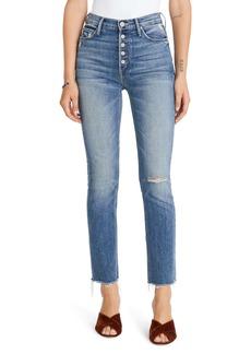Mother Denim MOTHER The Pixie Dazzler Raw Hem Straight Leg Jeans (Popism)