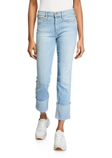 Mother Denim MOTHER The Pony Boy Ankle Fray Straight-Leg Jeans