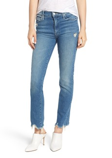 Mother Denim MOTHER The Rascal Ankle Chew Straight Leg Jeans (Dancing the Hula)