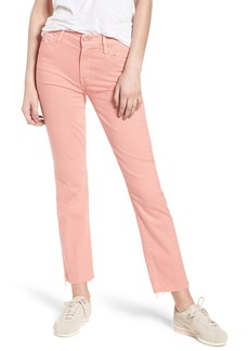 Mother Denim MOTHER The Rascal Ankle Snippet Jeans (Dusty Pink)