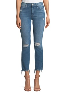 Mother Denim MOTHER The Rascal Distressed Ankle Skinny Jeans