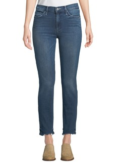 Mother Denim MOTHER The Rascal Straight-Leg Ankle Jeans with Chewed Hem
