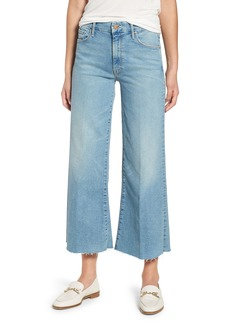 Mother Denim MOTHER The Roller Crop Fray Wide Leg Jeans (Ready to Roll)