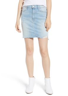 Mother Denim MOTHER The Sacred Frayed High Waist Miniskirt