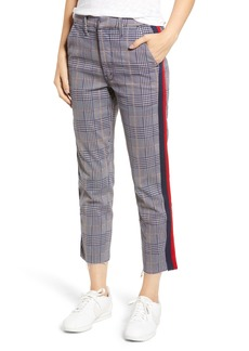 Mother Denim MOTHER The Shaker Prep High Waist Fray Crop Plaid Pants
