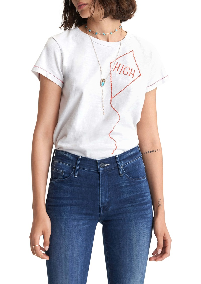 Mother Denim MOTHER The Sinful Embroidered T-Shirt
