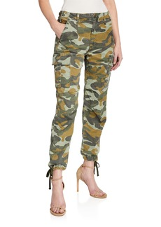 Mother Denim MOTHER The Sir Yes Sir Camo-Print Cargo Pants
