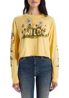 Mother Denim MOTHER The Slouchie Long Sleeve Graphic Crop Tee