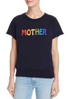 Mother Denim MOTHER The Square Embroidered Logo Sweatshirt