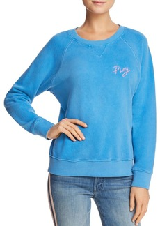 Mother Denim MOTHER The Square Embroidered Sweatshirt - 100% Exclusive