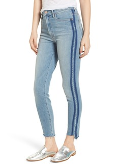 Mother Denim MOTHER The Stunner Fray Step Hem Skinny Jeans (Light Kitty Racer)