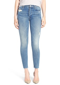 Mother Denim MOTHER The Stunner Frayed Ankle Skinny Jeans (Graffiti Girl)