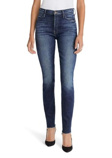 Mother Denim MOTHER The Stunner High Waist Fray Skinny Jeans (Roasting Nuts)