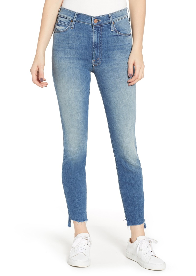 fb943203c7e87 Mother Denim MOTHER The Stunner High Waist Fray Step Hem Ankle Skinny Jeans  (Love for
