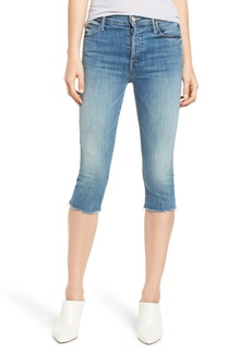 Mother Denim MOTHER The Stunner Knicker Frayed Capri Jeans (Make Me)
