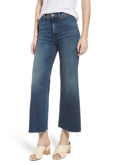 Mother Denim MOTHER The Swooner High Waist Crop Wide Leg Jeans (Come Sundown)